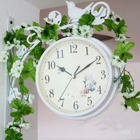 Watches Decoration Art Quartz Special Offer European Garden Bird Living Room Wall Clock Station Branch Iron