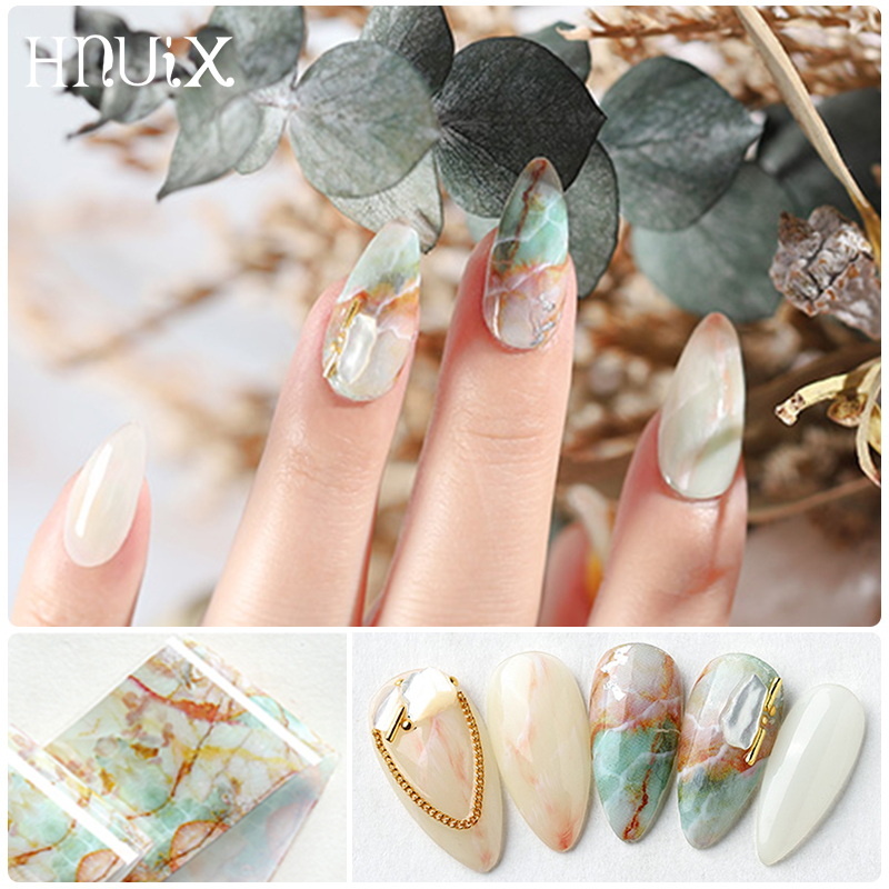 Image 3 - HNUIX 10 colours Nail art star transfer paper hot sale Rainbow sky Japanese style nail foil sticker nail polish adhesive sticker-in Stickers & Decals from Beauty & Health