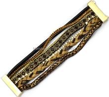 New Top Selling coffee brazil Bohemia Bracelet Free Shipping Wholesale European Handmade Knitted Rhinestone Bracelet For Women