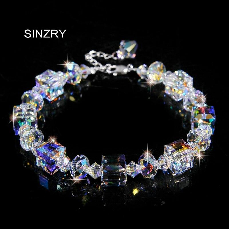 Bracelet de charme en verre de cristal p ...