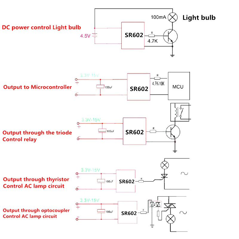 MINI SR602 Motion Sensor Detector Module Pyroelectric Infrared Sensory Switch With High Sensitivity SGA998