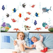 nemo fish cartoon wall sticker for shower tile stickers in the bathroom for children kids baby on bath AY617