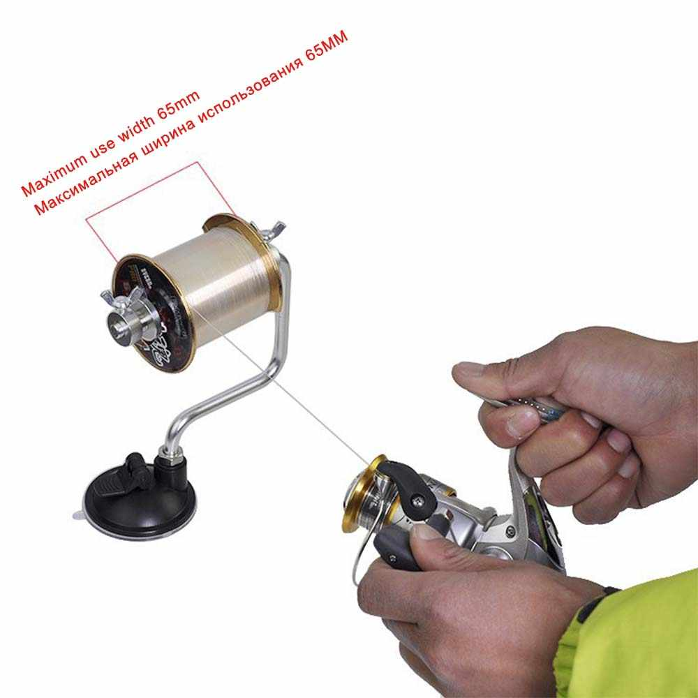 Use on Tables Fishing Line Winder with Clamp and Suction Cup 2 ...