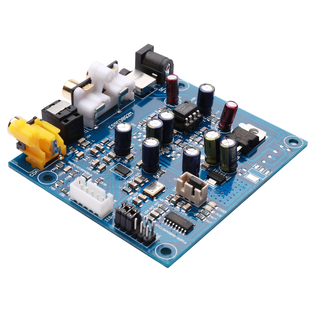 KGUSS M7A JRC55320 ES9038Q2M I2S DSD Optical Coaxial Input Decoder DAC Headphone Output Audio amplifier Board цена