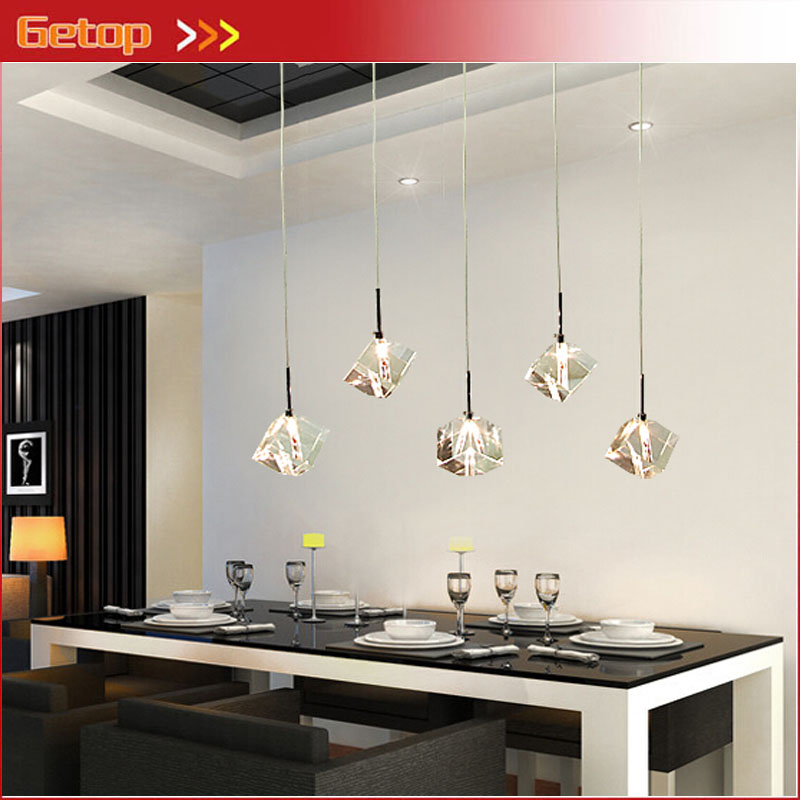 Modern Contracted LED Crystal Pendant Lamp Fixture Dining Room Chandelier Lustre 1/3/5/7 G4 Bulbs Living Room Indoor Lights modern crystal led chandelier gold luxury lustre e14 8 bulbs included crystal ball fixture for restaurant living room lamp
