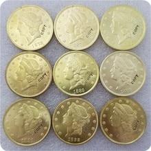 США 1878-1893$20 символ свободы, двойной Орел копия монет