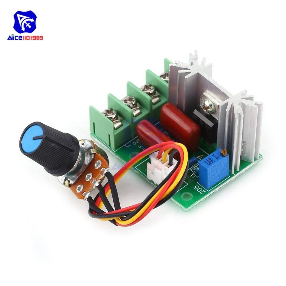 AC 220V 2000W SCR Voltage Regulator Transformer Module With Potentiometer Switch Temperature/Motor Speed Controller Light Dimmer