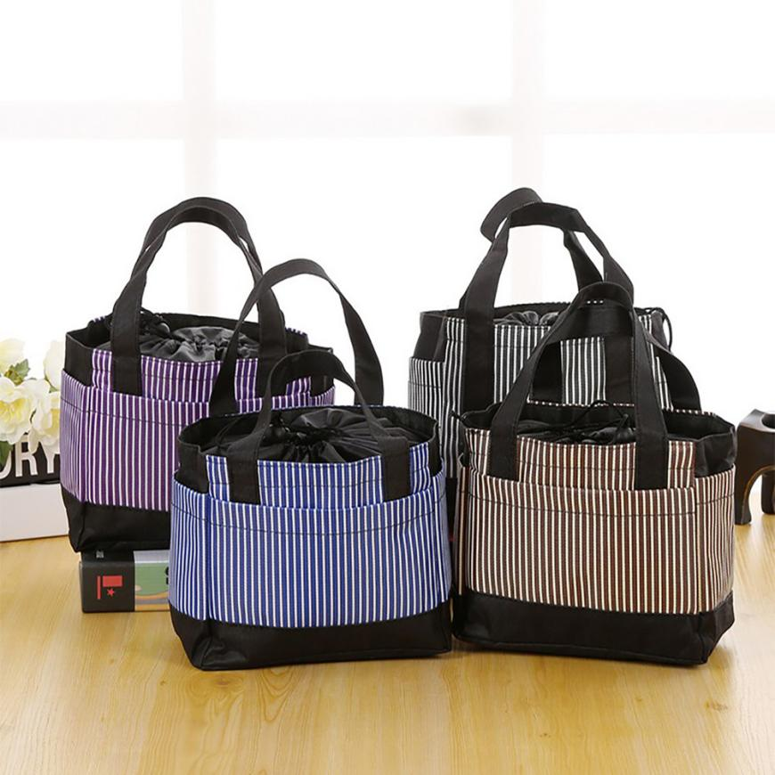 fashion Portable Insulated Canvas lunch Bag Thermal Food Picnic Lunch Bags for Women kids Men Cooler Lunch Box BagTotex3611