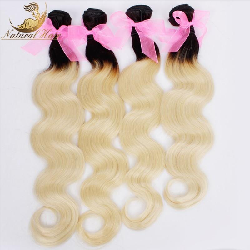 New Ombre Blonde Brazilian Hair 7A Brazilian Virgin Hair Two Tone Ombre Brazilian Hair Body Wave Weave Human Hair