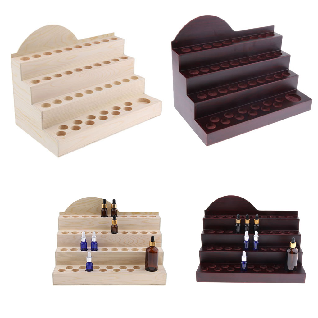 2Pcs Wooden Essential Oil Display Rack 4 Layers Stand Holder For 43pcs Aromatherapy Vials2Pcs Wooden Essential Oil Display Rack 4 Layers Stand Holder For 43pcs Aromatherapy Vials