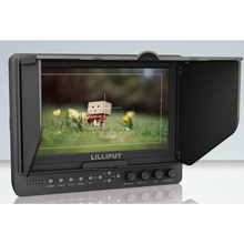 """ליליפוט 7 """"665/S HD SDI לפקח על מצלמה צג SDI HDMI מרוכבים YPbPr AV עבור BMCC DSLR HDV לשיא"""