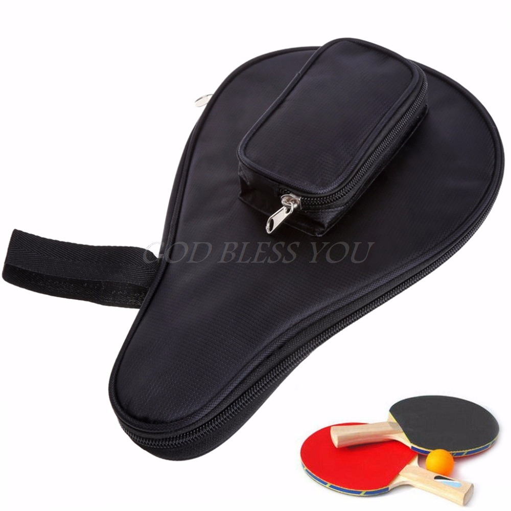 Waterproof Table Tennis Racket Ping Pong Paddle Bat Bag Pouch Ball Case