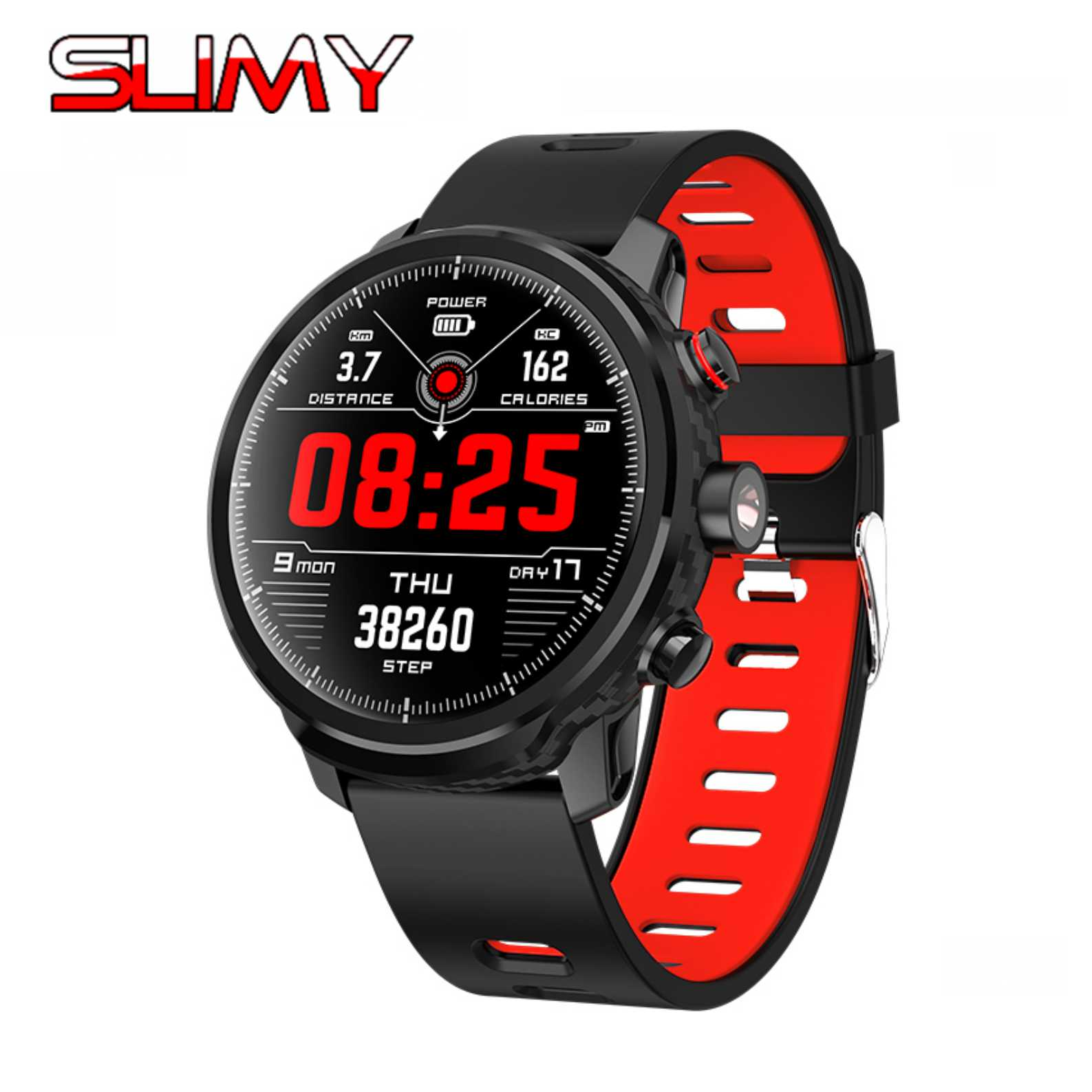 Slimy L5 Smart Watch 1.3 Inch Color Screen Wristwatch with Heart Rate Monitor IP68 Waterproof Swim Sports Bluetooth Smartwatch