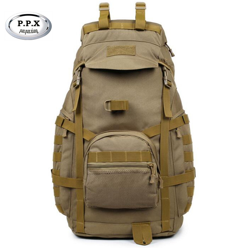 Outdoor Sports Bag Camping Travel Hiking Climbing Pack Multifunction Military Tactical Backpack with MOLLE Bag S281 tactical sports backpack molle men patrol rifle gear sports backpack bag hiking fishing climbing 10 colors