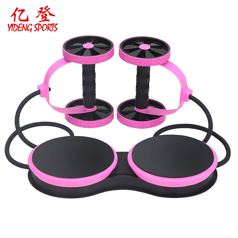 New Abdominal Trainer Muscle Exercise Equipment Home Fitness Equipment Double Wheel Abdominal Power Whee