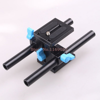 15mm Rail Rod Support System Baseplate Mount for canon DSLR Follow Focus Rig 5D2 5D 5D3 7D
