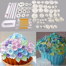 68Pcs Fondant Cake Chocolate Moulds Food-Grade Plastic Cookie Cutter Baking Decoration Baking Utensils Bakeware