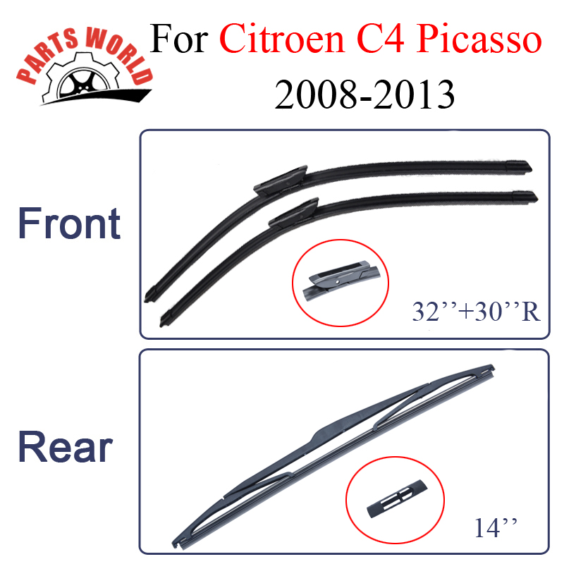 Partsworld Wiper Blades για πινέλο Citroen C4 Picasso 2008 2009 2010 2011 2012 2013