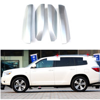Silver Front&rear Roof Rails Rack End Cap Cover Shell Trim 4pcs For Toyota Highlander/ Kluger XU40 2008 2009 2010 2011 2012 2013