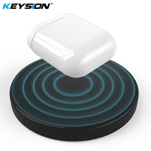 KEYSION QI Wireless charging case for AirPods Earphone Luxury Polycarbonate back Cover Airpods Portable charger Box