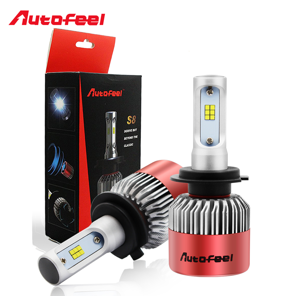 Autofeel H7 Led Headlight Bulbs Auto Front Fog Lamp light 168W 16000LM 6500K Pure White CSP Chips Single Low Beam Conversion Kit ironwalls led h7 9005 car headlight bulbs 72w cree csp chips 6500k 8000lm single beam all in one front fog light dc 12 24v