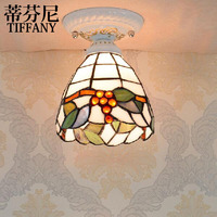 Tiffany style ceiling lamps color glass lamp Mediterranean Restaurant corridor lamp bedside lamp