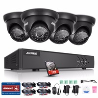ANNKE 8CH 1080P HDMI Output CCTV Security System DVR And 4 720P 1500TVL Outdoor Weatherproof CCTV