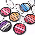 Warm Shimmer Eyeshadow Palette Round Shaped 5 Color Professional Glitter Eyeshadow Pigment Makeup Cosmetic