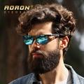 Aoron óculos polarizados marca designer clássico de lazer dos homens do vintage óculos de armação de metal design eyewear oculos de sol a6560