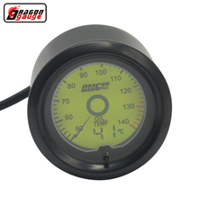 Dragon gauge 52mm 2 Inch 7 Color backlight LCD digital Point Oil temp gauge 50-140 Celsius temperature Equipped for sensor