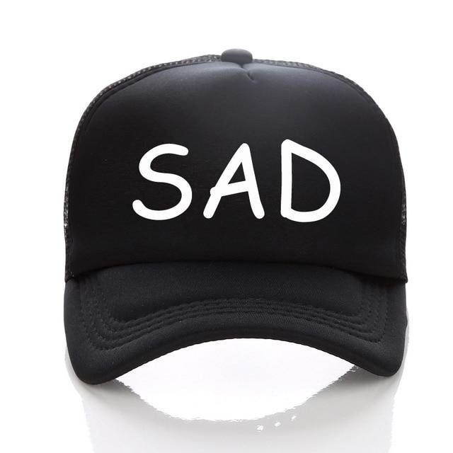 DongKing New Graphic Hat SAD Printed cap Summer Baseball cap Cool Mesh cap  Adult Fashion Trucker 8737545e58f0