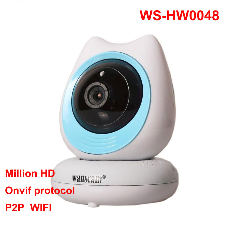 Wanscam HW0048 720P IR-CUT ONVIF Robot WiFi Video P2P IP Camera