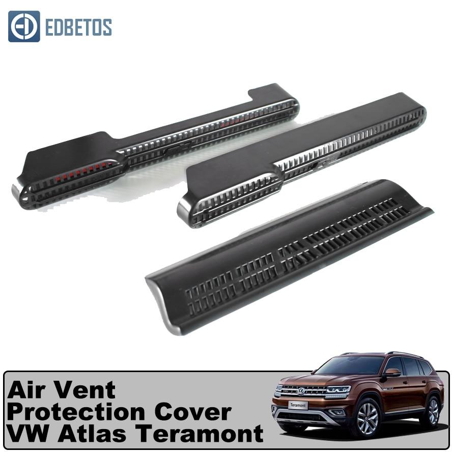 Para atlas teramont sob o assento condicionado saída de ventilação de ar capa protetora para volkswagen atlas teramont 2017-2020 2018 2019