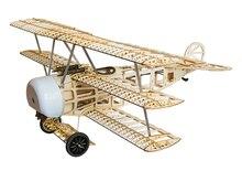 Balsawood repülőgépmodell lézervágás elektromos teljesítmény Fokker 770mm Wingspan Építési készlet Woodiness modell / WOOD PLANE