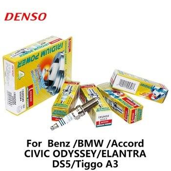 4 шт./компл. DENSO автомобильная свеча зажигания для Benz BMW Honda Accord Civic Odyssey Eantra DS5 Chery Tiggo A3 Iridium IXUH22