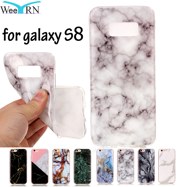 SM-G950F SM-G950 Phone Cover Marble Effect Soft Silicon Case Cover For Samsung Galaxy S8 Cases TPU Capa Funda FOR Samsung S8