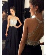 Luxus 2016 Abendkleider Perlen Strass Chiffon Vestido De Festa Prinzessin Stil Formale Kleider Für Hochzeit Kleider