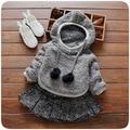 Inverno roupas de Bebê menina Bonito menina crianças vestido de manga longa Quente