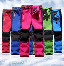 Brand Waterproof Girls Boys Pants Children Outerwear Warm Sporty Climbing Trousers For 5 14 Years Old