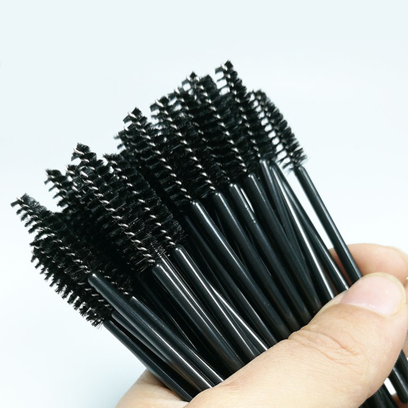 25 pcs Eyelash Eye Lash Black Disposable Mascara Wand Brush Spoolies Makeup Cosmetic Tool Eyelash Extension Individual Wholesale