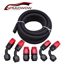 SPEEDWOW 3 Meter AN10 10AN Nylon & Stainless Steel Braided Hose+AN10 Hose End Fittings Adaptor Kit Oil/Fuel/Water Hose Line цены онлайн