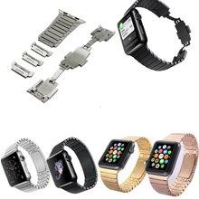 Черный / серебристый / цвета золота браслет дуги застежка из нержавеющей стали 316L ремешок для часов для Apple , часы группы роскоши для iWatch группа 42 мм