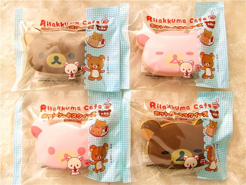 Kuutti Squishy Cute Japan Original Packing Kawaii Squishy Yummy Rilakkuma Cafe Sandwich Bear Bread PU Foam Squishy ToyWrist Rest