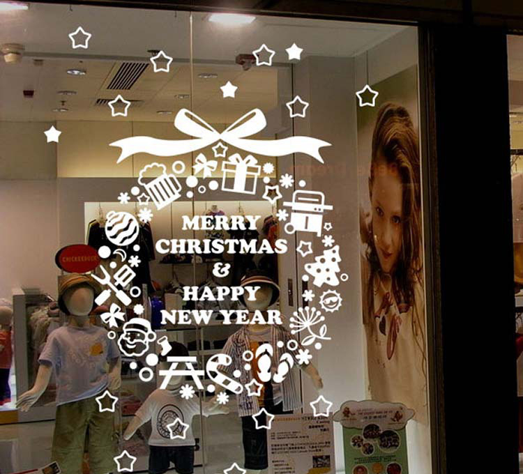 Christmas Decorations For Coffee Shops: Christmas Bells Removable Supermarkets Store Shop Windows