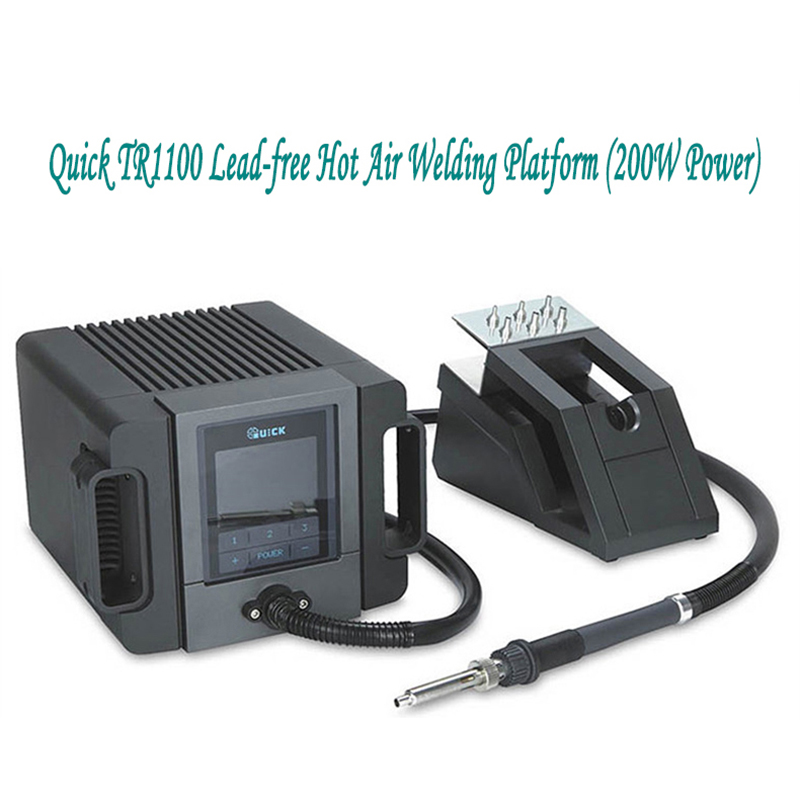QUICK TR1100 Touch Dormancy of 200W Intelligent Constant Temperature Hot Air Gun  Lead-free Welding Platform