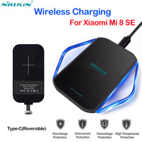 Nillkin Qi Wireless Charger Wireless Charging for Xiaomi Mi 8 SE with Type C Charging Port Type C Receiver for Xiaomi Mi8 SE