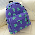 HOT SALE!!! Canvas Backpack For Women Small Fresh Backpack Maple Leaves Printed Shoulder Bags School Bag Mochila