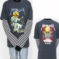 Justin Bieber Moda VINTAGE Camisetas Kanye West Temor de Dios High Street Camisetas de Rock Metallica Heavy Metal NIEBLA Camisetas Hombre
