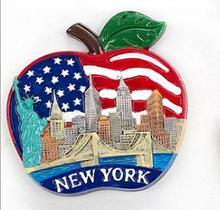 New York, the Statue of Liberty apple-type travel souvenir refrigerator stickers the new york quarterly number 46