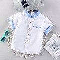 Новый 2016 Летом Одежда Малыша Мальчиков 5 Хлопка Цвета С Коротким Рукавом Рубашки